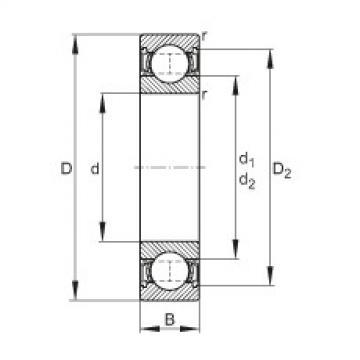 FAG Rillenkugellager - 61800-2RSR
