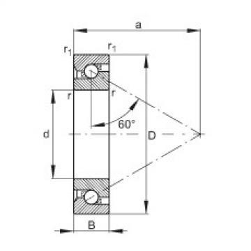 FAG محوري الزاوي الاتصال الكرات - BSB050100-T
