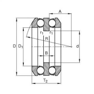 FAG Axial-Rillenkugellager - 54318 + U318
