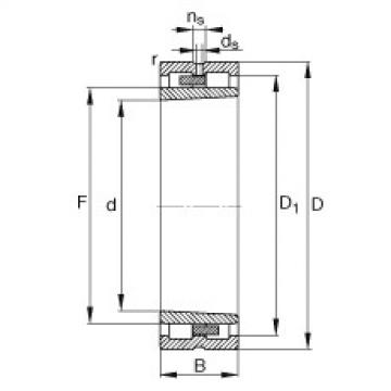 FAG محامل أسطوانية - NNU4960-S-K-M-SP