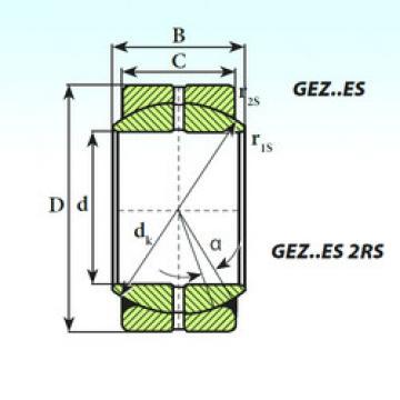 المحامل GEZ 38 ES 2RS ISB