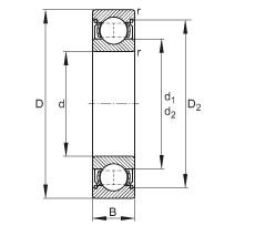 FAG Rillenkugellager - 6200-2Z