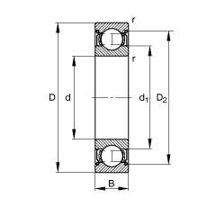 FAG Rillenkugellager - S689-2Z