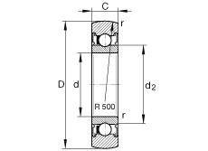 FAG Laufrollen - LR6000-2RSR