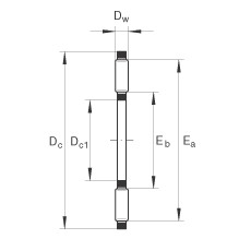 FAG Axial-Nadellager - TC613