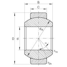 FAG Radial-Gelenklager - GE10-FO