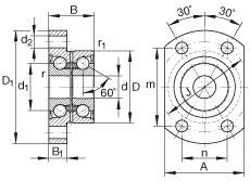 FAG Schrägkugellager-Einheiten - ZKLFA0850-2RS