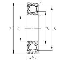 FAG Rillenkugellager - 6200-C-2HRS