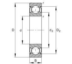 FAG Rillenkugellager - 6000-C-2Z