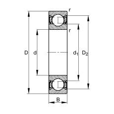 FAG Rillenkugellager - S6300-2RSR