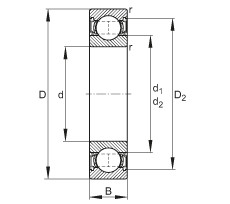 FAG Rillenkugellager - 61900-2RSR