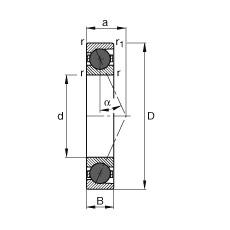 FAG Spindellager - HCB7200-E-T-P4S