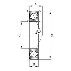FAG Spindellager - B7200-E-2RSD-T-P4S
