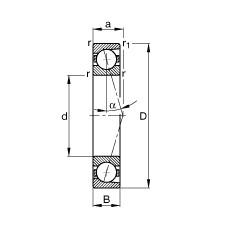 FAG Spindellager - B7200-C-T-P4S