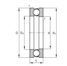 FAG محوري الأخدود العميق الكرات - 51160-MP