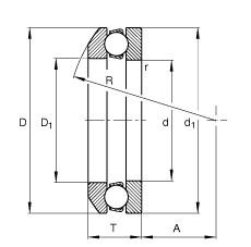 FAG Axial-Rillenkugellager - 53314