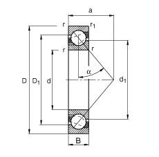 FAG Schrägkugellager - 7200-B-XL-JP