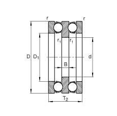 FAG Axial-Rillenkugellager - 52202