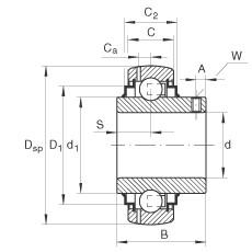 FAG Spannlager - GY1215-KRR-B-AS2/V