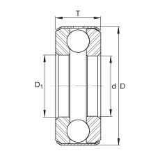 FAG Axial-Rillenkugellager - D38