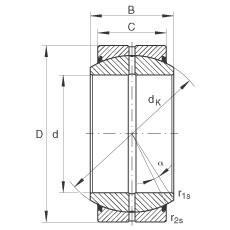 FAG Radial spherical plain bearings - GE300-DO-2RS
