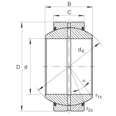 FAG Radial-Gelenklager - GE70-FO-2RS