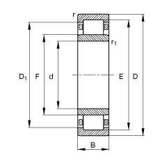 FAG محامل أسطوانية - NU2356-EX-TB-M1
