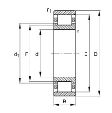 FAG Zylinderrollenlager - N214-E-XL-TVP2