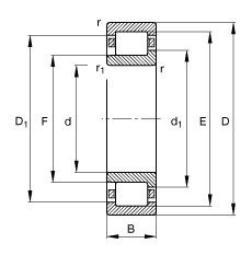 FAG محامل أسطوانية - NJ356-E-TB-M1