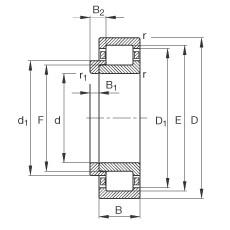 FAG Zylinderrollenlager - NJ214-E-XL-TVP2 + HJ214-E