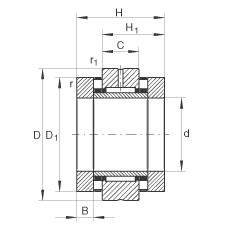 FAG Nadel-Axial-Zylinderrollenlager - ZARN75155-TV