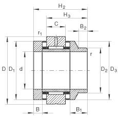 FAG Nadel-Axial-Zylinderrollenlager - ZARN75155-L-TV
