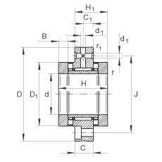 FAG Nadel-Axial-Zylinderrollenlager - ZARF75185-TV