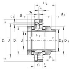 FAG Nadel-Axial-Zylinderrollenlager - ZARF70160-L-TV