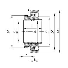 FAG Pendelkugellager - 2317-K-M-C3 + H2317