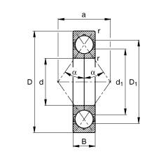 FAG Vierpunktlager - QJ314-XL-MPA