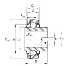 FAG Spannlager - GLE70-XL-KRR-B