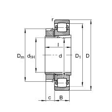 FAG Tonnenlager - 20216-K-TVP-C3 + H216