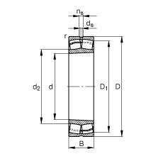 FAG Pendelrollenlager - 22314-E1-XL-K-T41A