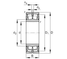 FAG Abgedichtete Pendelrollenlager - WS22314-E1-XL-2RSR