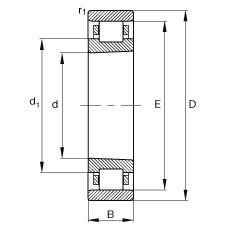 FAG محامل أسطوانية - N1068-K-M1-SP