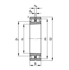 FAG Zylinderrollenlager - NN3014-AS-K-M-SP