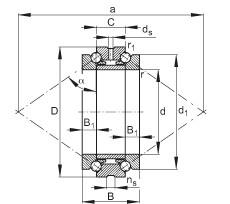 FAG Axial-Schrägkugellager - 234415-M-SP