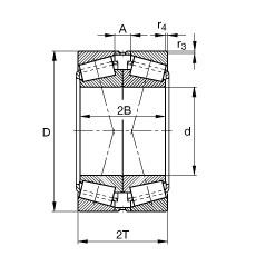 FAG تناقص الأسطوانة المحامل - 32960-N11CA-A550-600