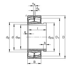 FAG Pendelrollenlager - 22315-E1-XL-K + AHX2315G