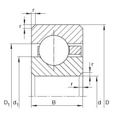 FAG محامل القسم رقيقة - CSCD120