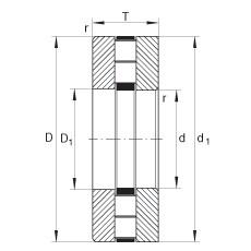 FAG محوري أسطواني محامل - 89460-M