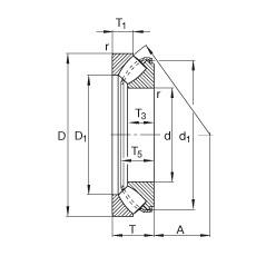 FAG محوري كروية محامل - 29364-E1-XL