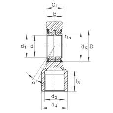 FAG Hydraulik-Gelenkköpfe - GIHRK70-DO