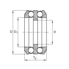 FAG محوري الأخدود العميق الكرات - 80X03